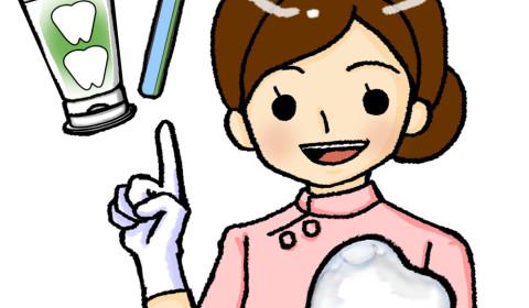 25歯磨き指導女性